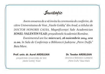 Invitatie DHC Ionel Valentin Vlad