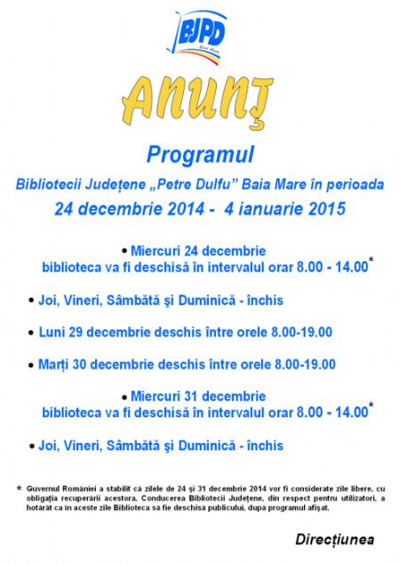 Program biblioteca Sarbatori de iarna 2014-2015 - A3 final