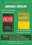Afis DRAM si Toponimie