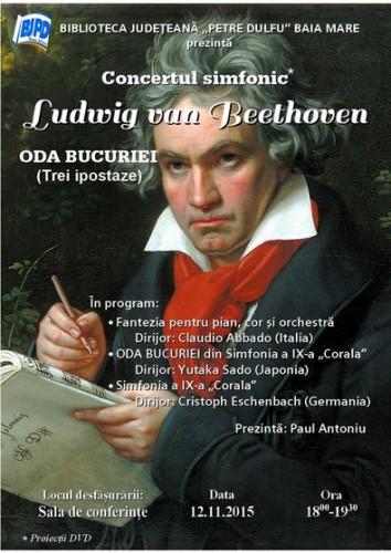 Afis Oda Bucuriei - concert simfonic