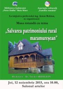 Afis Salvarea patrimoniului rural maramuresean
