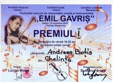 Andreia Botis_diploma_Festival Gavris