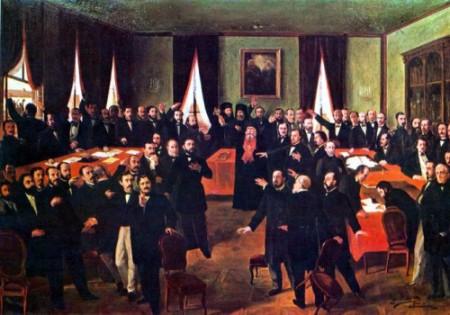 Theodor Aman_Proclamarea Unirii