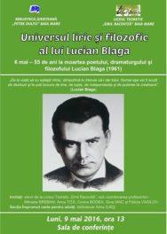 Afis_Universul liric si filosofic al lui Lucian Blaga
