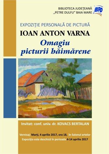 Afis Expo pictura Varna Ioan Anton