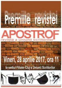 afis_premiile Apostrof 2017