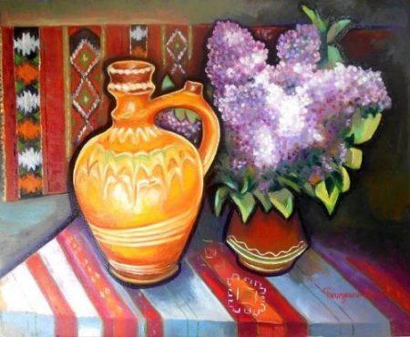 Flori pe masa bunicii_Ion Georgescu-Muscel