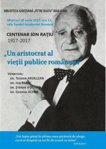 afis centenar Ion Ratiu