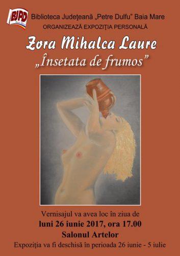 Afis Expozitie Zora Mihalca Laure