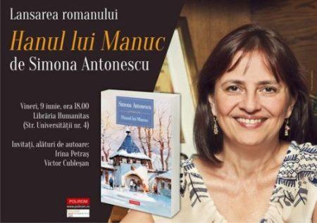afis_Simona Antonescu_Hanul lui Manuc_lansare_Cluj