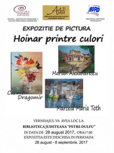 Afis vernisaj_Hoinar printre culori