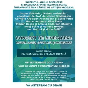 afis_concert caritabil_Casa de Cultura Cluj_8 sept. 2017