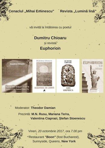 afis_Cenaclu Mihai Eminescu New York_Dumitru Chioaru