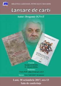 afis_dubla lansare_Dragomir Ignat