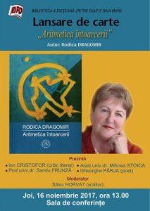 afis_Rodica Dragomir_Aritmetica intoarcerii