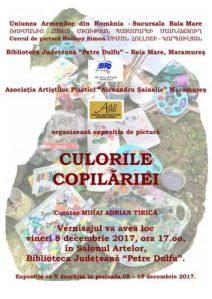 afis_expozitie_Culorile copilariei_Uniunea Armenilor