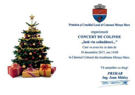 Invitatie_Concert dr colinde_Miresu Mare_10 dec. 2017