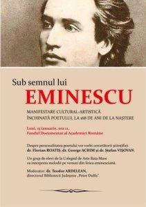 afis_Sub semnul lui Eminescu