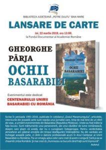 lansare_Parja_Ochii Basarabiei_Baia Mare
