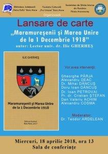 afis_lansare_Ilie Gherhes_Maramuresenii si Marea Unire