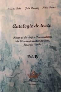 Antologie de texte. Recenzii de cărți. Personalități ale literaturii